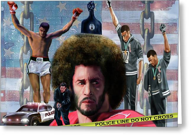Colin Kaepernick Amongst The Brave Few 2a Greeting Card