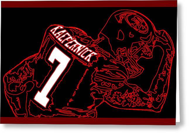 Colin Kaepernick Greeting Card by Michael Bergman
