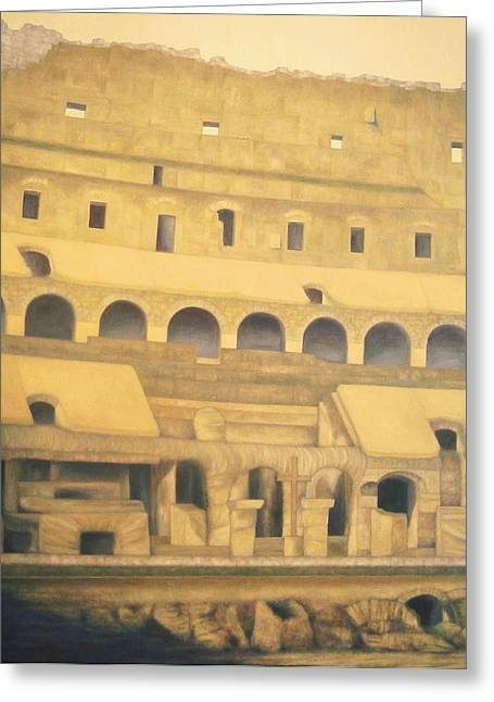 Coliseum Floor Greeting Card
