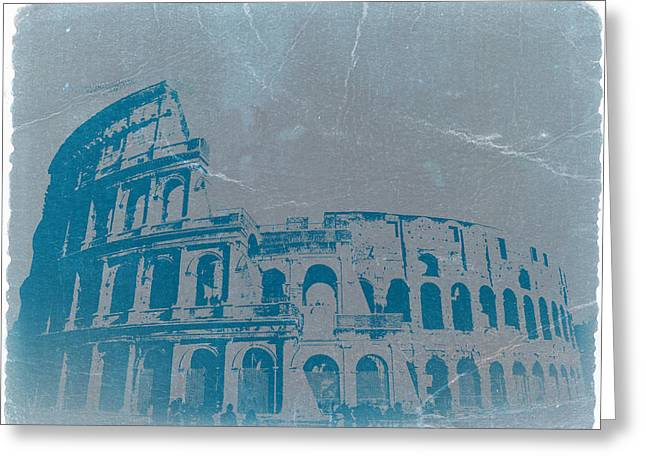 Cathedral Greeting Cards - Coliseum Greeting Card by Naxart Studio