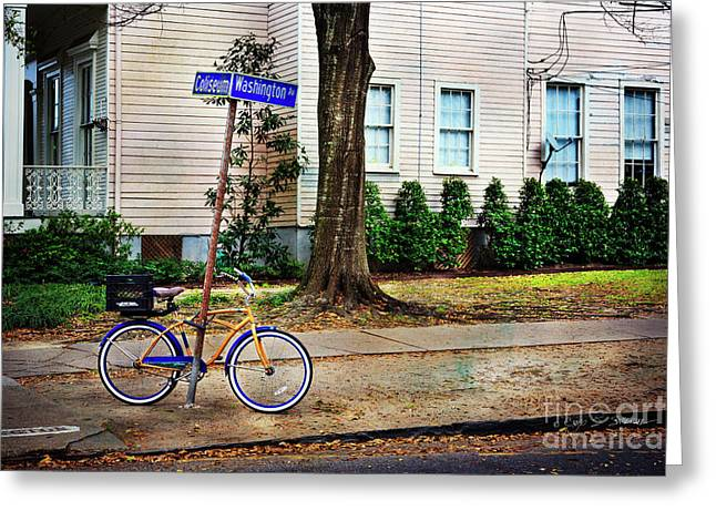 Greeting Card featuring the photograph Coliseum-washington Bicycle by Craig J Satterlee