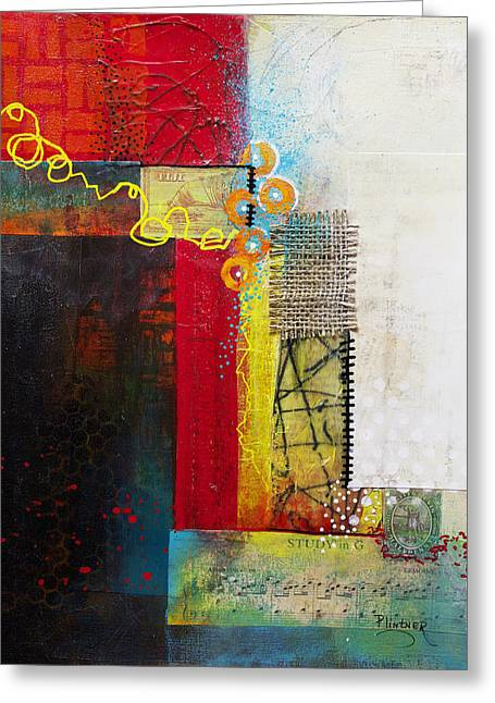 Greeting Card featuring the painting Collage Art 1 by Patricia Lintner