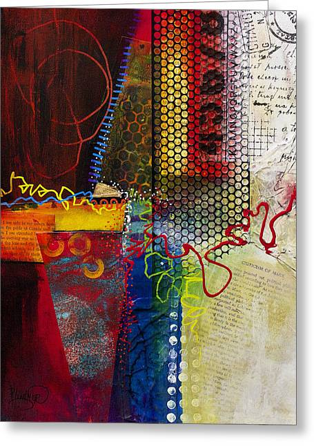 Greeting Card featuring the painting Collage Art 2 by Patricia Lintner