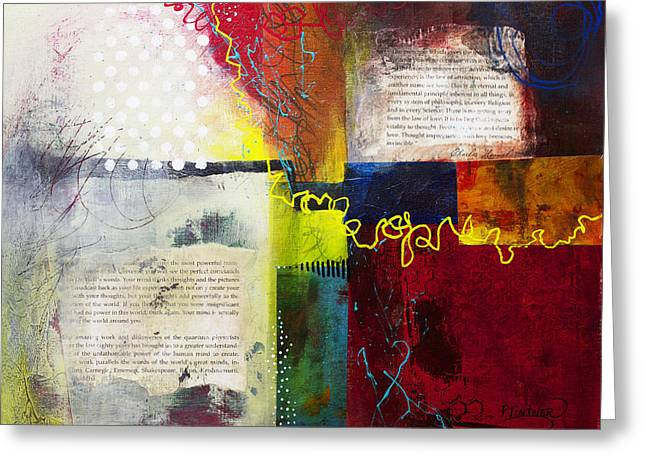 Greeting Card featuring the painting Collage Art 3 by Patricia Lintner