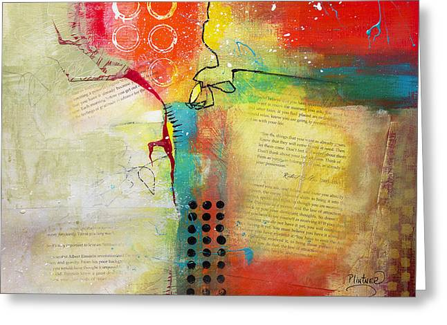 Greeting Card featuring the painting Collage Art 5 by Patricia Lintner