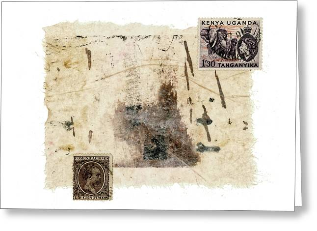 Collage In Shades Of Brown Greeting Card