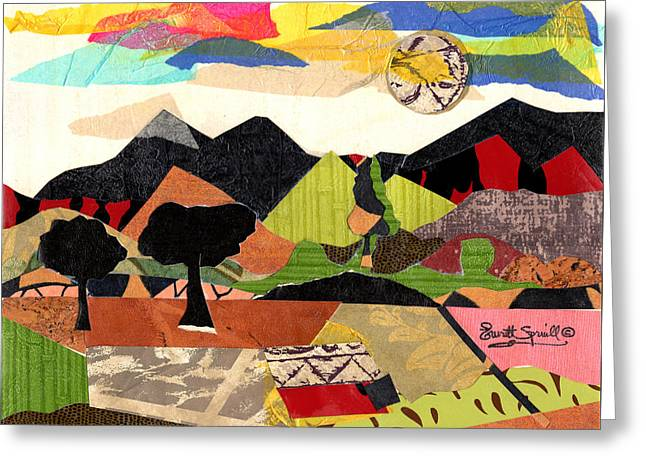 Collage Landscape 1 Greeting Card