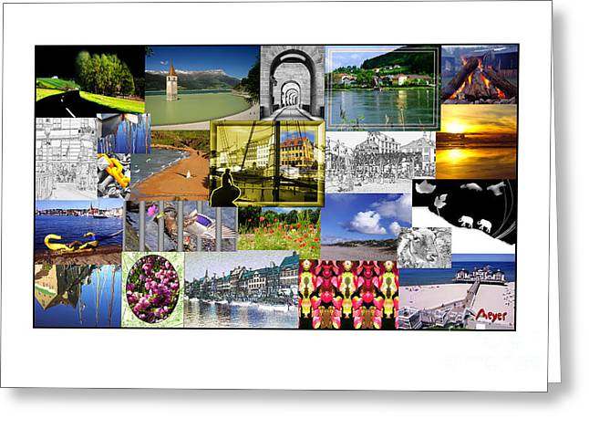 Collage Photography 1999-2009 By Sascha Meyer Greeting Card by Sascha Meyer