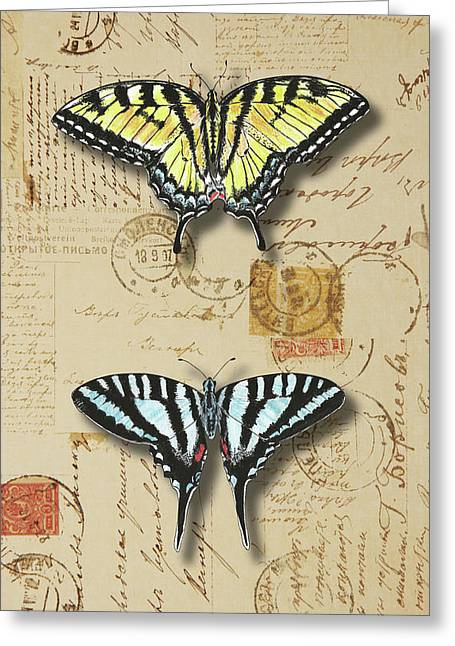 Collection Of Butterflies Greeting Card