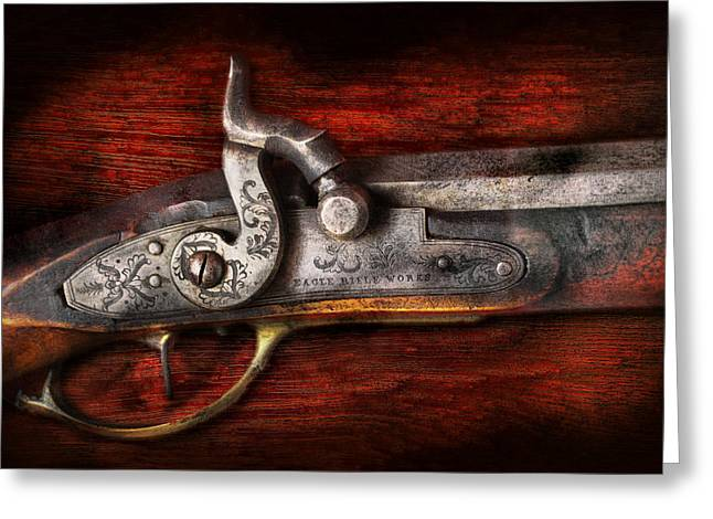 Collector - Gun - Rifle Works  Greeting Card by Mike Savad