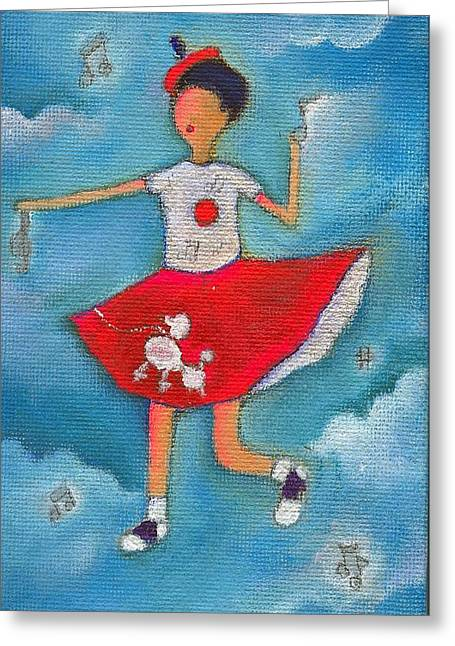 Colleen Dancing In Clouds Greeting Card by Ricky Sencion
