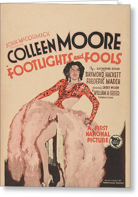 Colleen Moore In Footlights And Fools 1929 Greeting Card by Mountain Dreams