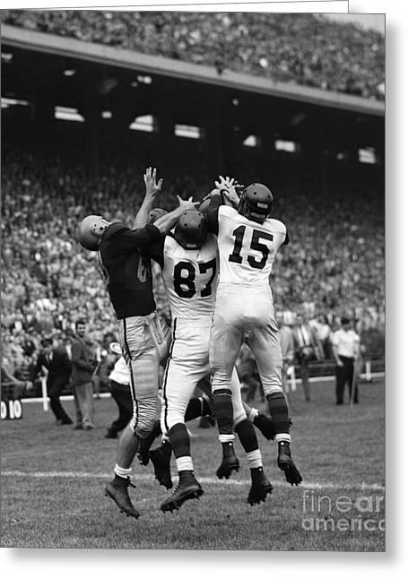 College Football Game, C. 1950s Greeting Card by H. Armstrong Roberts/ClassicStock
