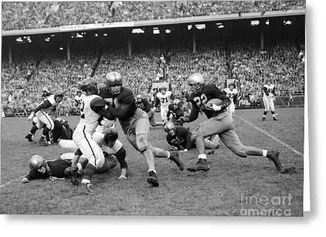 College Football Game, C.1950s Greeting Card by H. Armstrong Roberts/ClassicStock
