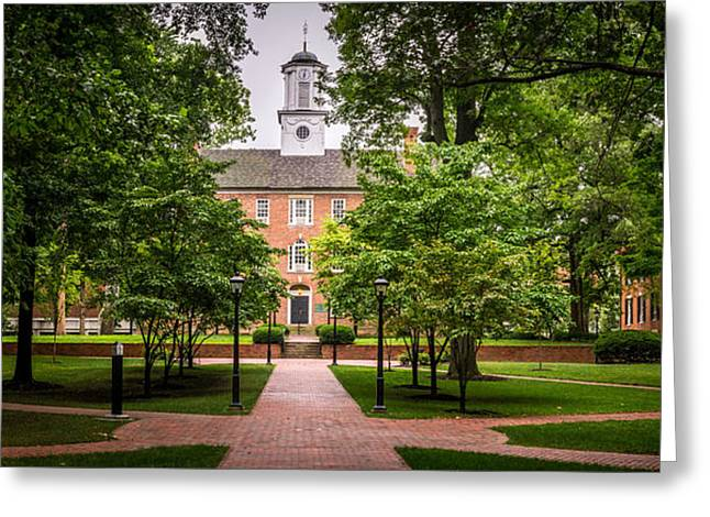 Ohio University College Green Greeting Card by Robert Powell