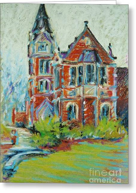 Library Pastels Greeting Cards - College Life Greeting Card by K M Pawelec
