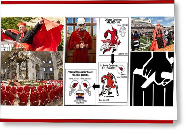 College Of Cardinals Greeting Card by Peter Hedding