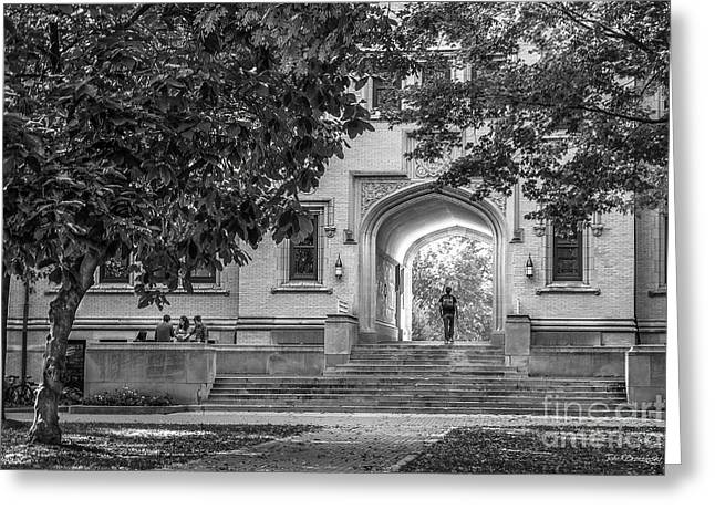 College Of Wooster Kauke Arch Greeting Card by University Icons