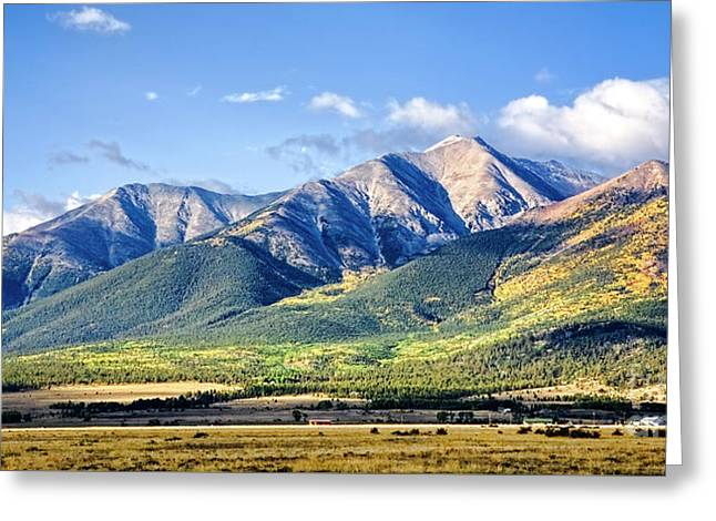 Greeting Card featuring the photograph Collegiate Range by Scott Kemper