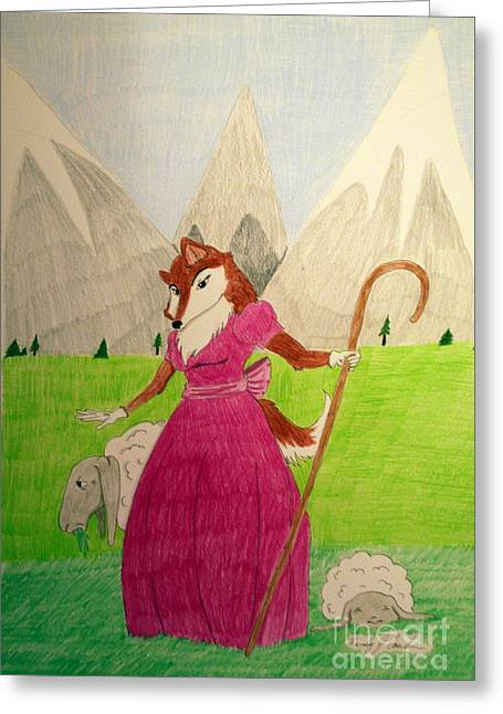 Collie Bo Peep Greeting Card