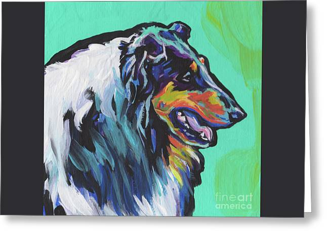 Collie Collie Greeting Card by Lea