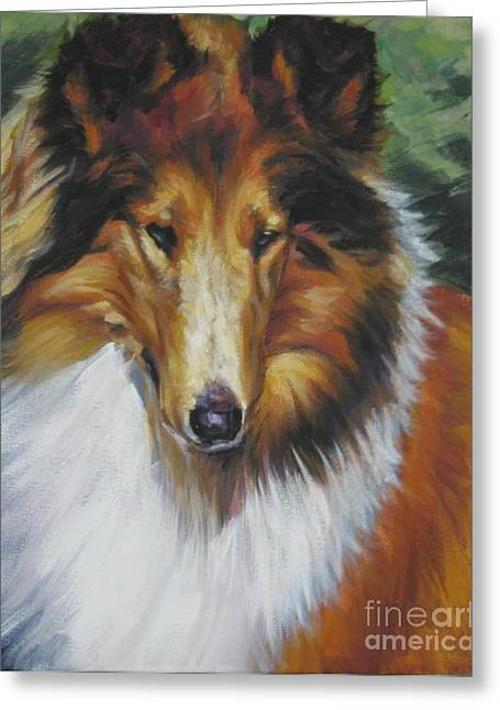 Collie Portrait Greeting Card