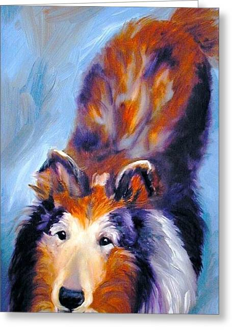 Collie Sable Rough 1 Greeting Card