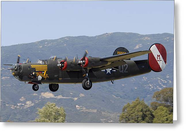 Collings Foundation Consolidated B-24j Liberator Witchcraft Greeting Card by Brian Lockett
