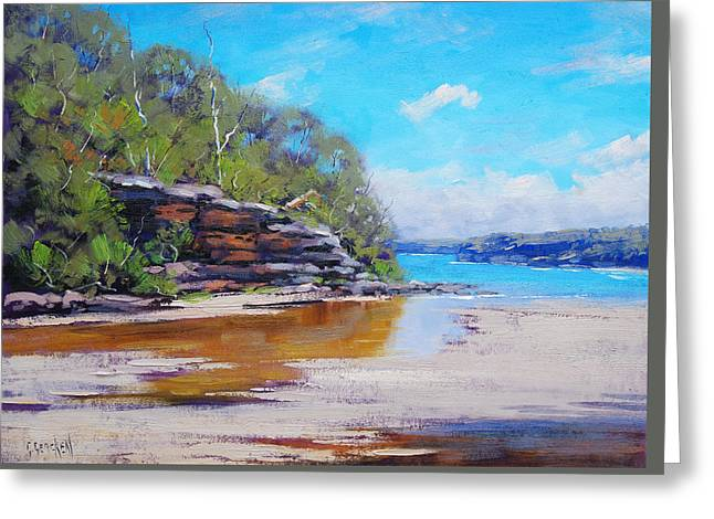 Collins Beach Manly Greeting Card