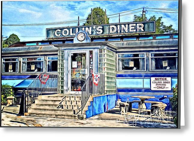 Collin's Diner New Canaan,conn Greeting Card