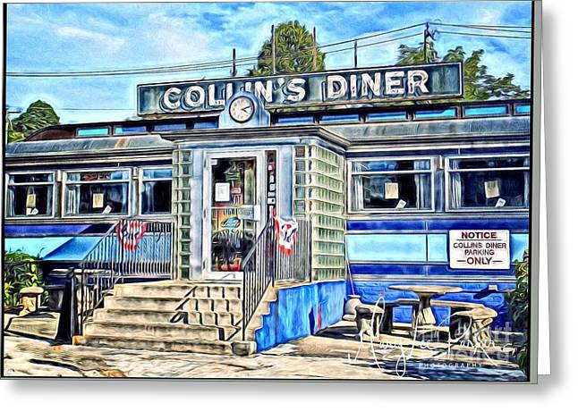 Collin's Diner New Canaan,conn Greeting Card by MaryLee Parker