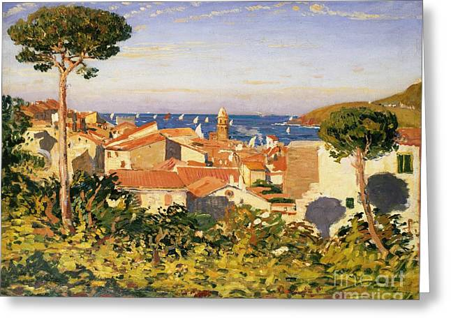 Med Greeting Cards - Collioure Greeting Card by James Dickson Innes
