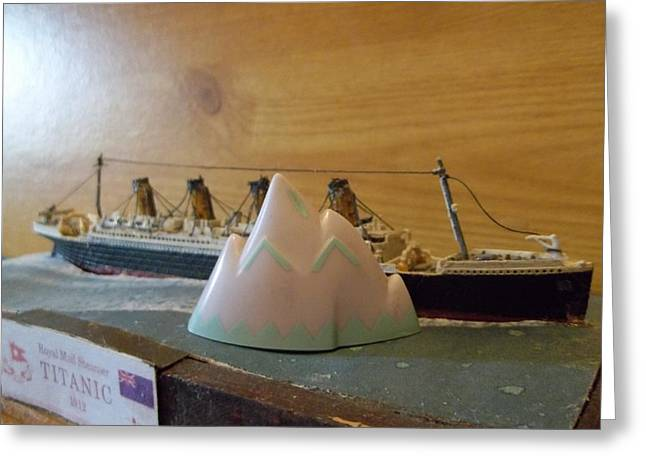 Collision With The Iceberg Greeting Card