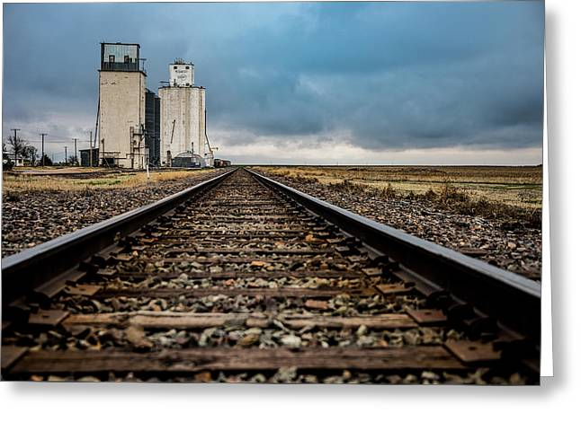 Collyer Tracks Greeting Card by Darren White