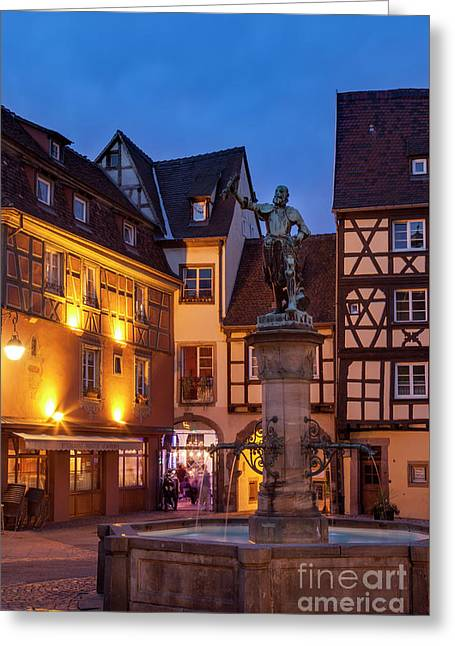 Colmar Evening Greeting Card