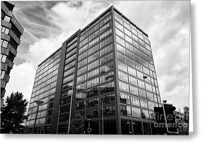 colmore plaza office development in new financial area of Birmingham UK Greeting Card by Joe Fox