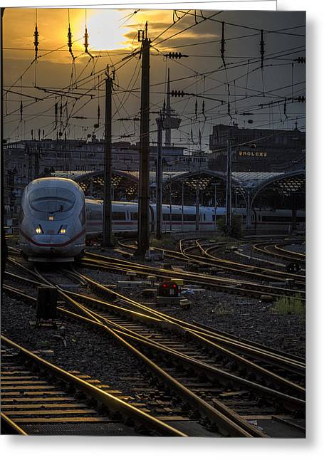 Cologne Central Station Greeting Card
