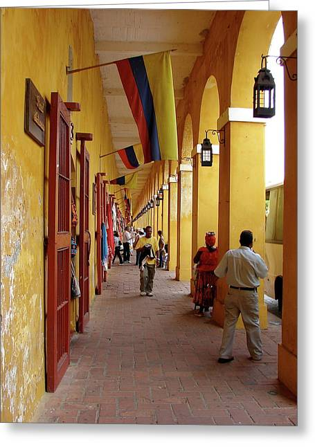 Colombia Walkway Greeting Card