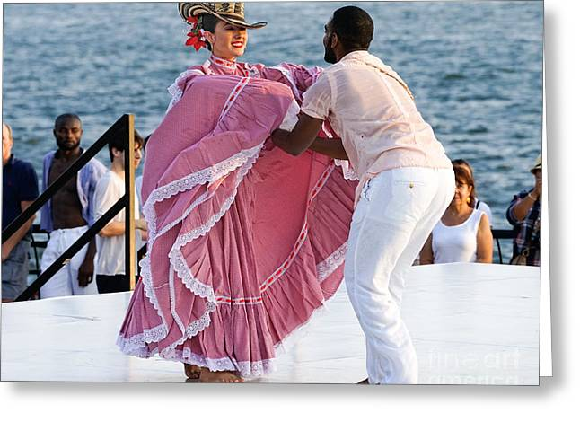 Colombian Dancers 3 Greeting Card by Jerry Fornarotto