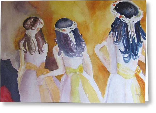 Colombian Wedding Party Two Greeting Card