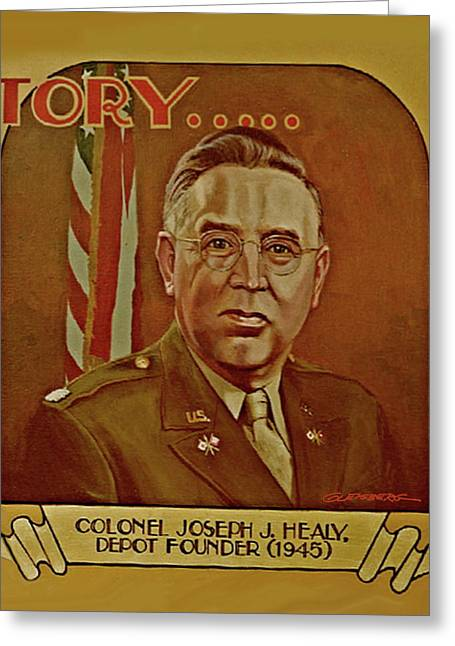 Colonel Joseph J. Healy Greeting Card