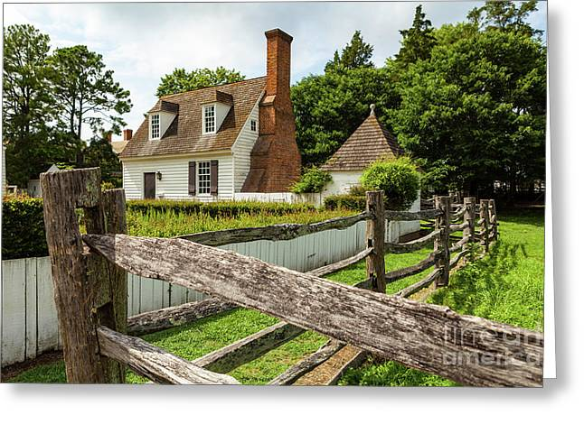 Colonial America House Greeting Card