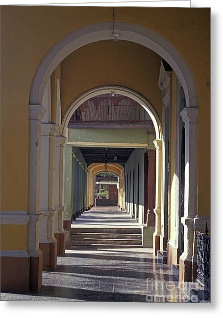 Colonial Arches Granada Nicaragua Greeting Card