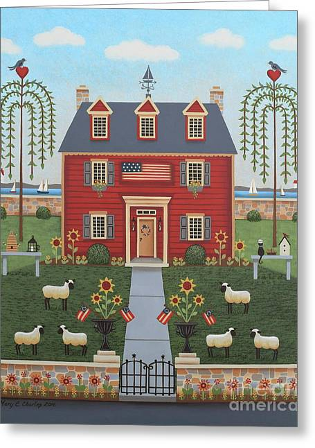 Colonial By The Sea Greeting Card