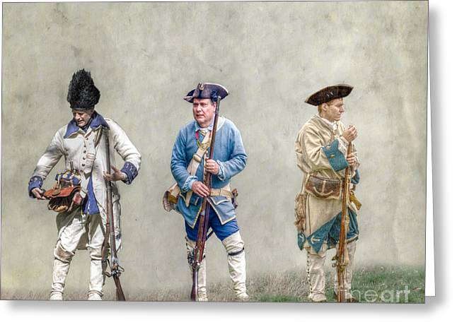 Colonial French Soldier Review Greeting Card by Randy Steele