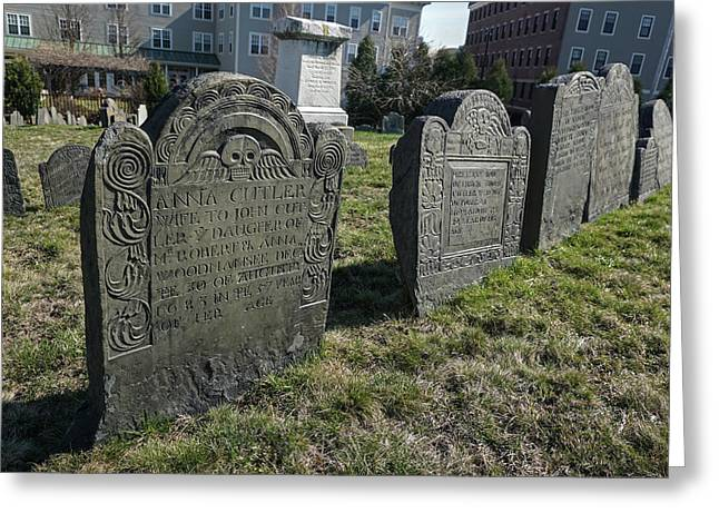 Colonial Graves At Phipps Street Greeting Card
