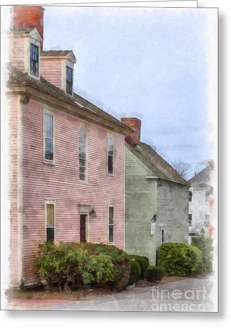 Colonial Houses Of Portsmouth New Hampshire Greeting Card