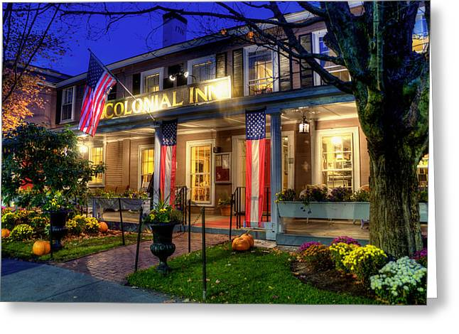 Colonial Inn Concord Ma -historic Sites Greeting Card by Joann Vitali