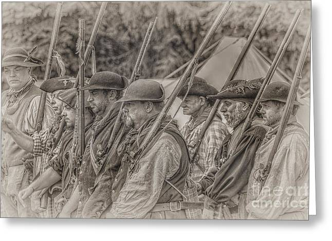 Colonial Militia Soldiers Greeting Card