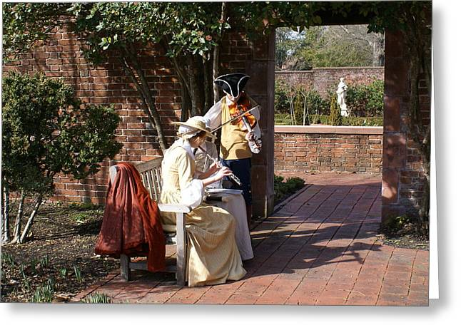 Colonial Music At Tryon Palace Greeting Card by Rodger Whitney